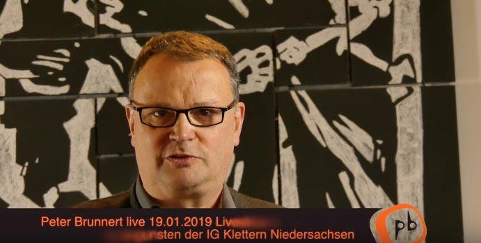 Teaser zur Peter Brunnert Lesung mit Livestream am 19.01.2019